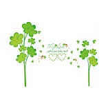 Wall Stickers Wall Decals Style Warm Fashion Clover PVC Wall Stickers
