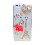 Back Rhinestone Eiffel Tower PC Hard Case Cover For Apple iPhone 6s Plus/6 Plus / iPhone 6s/6