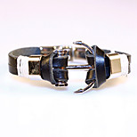 High Quality Fashion Jewelry PU Leather Anchor Bracelet Men Gift Summer Style