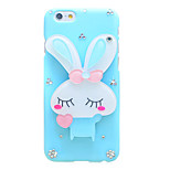 Back Rhinestone Animal PC Hard Rabbit Case Cover For Apple iPhone 6s Plus/6 Plus / iPhone 6s/6