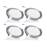 4pcs/lot 5W Wireless AC 220V Dimmable LED Downlights Warm White / Cool White LED Panle Light Silver Shape