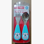 Stainless Steel  Baby Fork and Spoon(polar bear)
