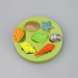 Sea Shells Summer Beach CupCake Decoration Silicone Fondant Mold Sugarcraft Tools Polymer Clay Chocolate Candy Making