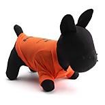 Gatti / Cani T-shirt Arancione Estate Floral / botanico Di tendenza, Dog Clothes / Dog Clothing-Other