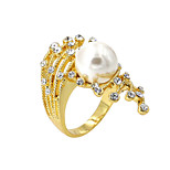 Ring Imitation Pearl / Fashion / Birthstones Party / Daily / Casual Jewelry Alloy / Imitation Pearl / Zircon Women Band Rings 1pc,8Yellow