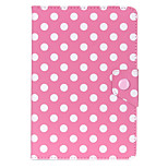 Universal Polka Dot Leather Stand Case Cover For Android Tablet PC 7 inch