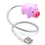 cochon rose créatif nightlight usb conduit