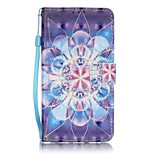EFORCASE® Crystal Flower 3D Painted Lanyard PU Phone Case for Huawei P9lite