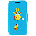 Kinston® Giraffe Give You Flowers Pattern PU Leather Full Body Cover with Stand for iPhone SE/5/5s/6/6s/6 Plus/6s Plus
