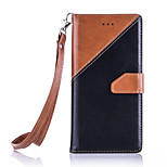 For Huawei P9 lite/P9 2016 Fashion Splice Hit Color  PU Leather Flip Case Stand Card Slots