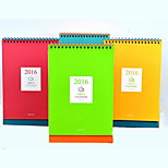 Simple Desktop Calendar Planning Notebook(Random Colors)