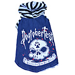 Cat / Dog Costume / Hoodie Black Winter / Spring/Fall Stripe / Skulls Striped, Dog Clothes / Dog Clothing
