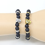 Fashionable Black 18cm Round Strand Bracelets