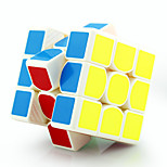 Magic Cube /  Yongjun Three-layer Speed / Professional Level Smooth Speed Cube Magic Cube puzzle White Plastic