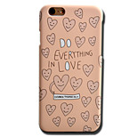 indietro Other Other PC Difficile Smooth Surface+Relief+Novelty Pattern Copertura di caso per AppleiPhone 6s Plus/6 Plus / iPhone 6s/6 /