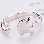 Elephant Silver Ring