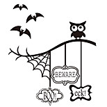 aw9433 Halloween Stickers Window Stickers Wall Stickers Halloween   Home Decor Bats Stickers