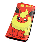 Inspired By Pocket Little Monster Flareon Long 19cm PU Leather Wallet