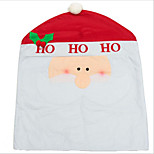 Christmas Decorations Red Chair Sets Of Non-woven Christmas Chair Cover