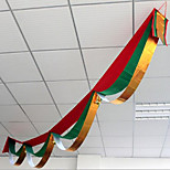 Christmas Waves Flag Cloak Supplies Decorative Streamers Flag Bunting Storefront  Room Ceiling Decoration