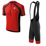 KEIYUEM Ciclismo Set di vestiti/Completi / Salopette / Maglietta Unisex BiciclettaTraspirante / Asciugatura rapida / Anti-polvere /