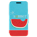 Kinston® Eating Watermelon Pattern PU Leather Full Body Cover with Stand for iPhone SE/5/5s/6/6s/6 Plus/6s Plus