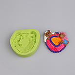 Textured Sleepy Bears Silicone Mould Fondant Cake Decoration Sugarcraft Tools Polymer Clay Fimo Chocolate Candy Making