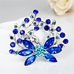 fallen neue Art und Weise weibliche exquisite blau pflanze Strassbroschen für Hochzeit