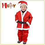 Non-Woven Christmas Clothing Boy 4-6 Years Old Children Santa Claus Suit Christmas Dress Supplies