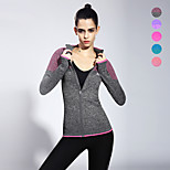 Jinxiuheshan® Women's Running Tops / Sweatshirt Yoga / Fitness / Running Breathable / Quick Dry Gray  Sports Wear