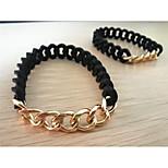 telar pulsera 1 pieza,De Moda Forma de Círculo Negro Silicona Joyas Regalos