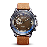 Men's Fashion Quartz Casual Sport Watch Fabric Belt Round Big Alloy Dial Watch Cool Watch Unique Watch
