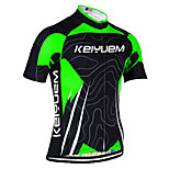 KEIYUEM Cycling Jersey/ Tops Unisex Short Sleeve/ Breathable / Quick Dry / Rain-Proof /Waterproof Zipper#K176