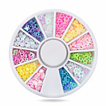 Hot Colorful Star/heart Nail Art Stickers Tips Decoration Wheel Glitter Nail Rhinestone Decoration Tools