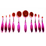 10 Makeup Brushes Set Nylon Portable Plastic Face Others
