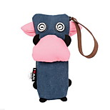 Canvas Cow Pen Bag New South Korean Lovely Simple Large Capacity Pencil Case