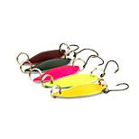 5pcs 3cm/3g Spoon Metal Fishing Lures Spinner Baits Random Colors