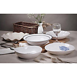 Contracted Europe Type high-temperature White Porcelain Western-style Tableware