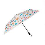 2015 Fashion Newest Triple Mushroom Umbrella Small Mushrooms Pattern Uv Clear Umbrella