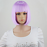 Halloween Fashion Synthetic Hair Straight Short Wigs Cheap Full Bob Wig Style for Cosplay/Party  purple Color