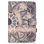 PU Leather Material Half Flower Embossed  Pattern Tablet Sleeve for iPad mini 4