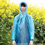 Siamese Adult Disposable Raincoat Portable Riding Tour Thickened Snap Button Poncho Rain Gear