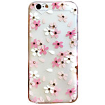 Love Flowers Rhinestone Embossed Frosted TPU Phone Case for iPhone 6 6S 6 Plus 6S Plus
