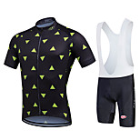 Sports Cycling Jersey with Bib Shorts Men's / Unisex Short Sleeve Bike Breathable / Quick Dry / Front Zipper / Wearable / Compression