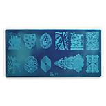 1pcs Nail Art Stamping Plate Colorful Image Design DIY Image painting Nail Tool UB01-05