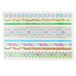 1pc Flash Metallic Temporary Tattoo Woman Water Blue Green Bracelet Waterproof Tattoo Sticker VT342