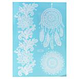 1pc Waterproof Body Art Tattoo White Dreamcatcher Flower Pattern Temporary Tattoo Sticker WJ013A