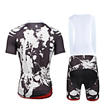 Cycling PaladinSport Men Shirt + Straps Shorts Suit BKT655  Dark Grey Skeletons