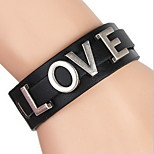 Brown/Black LOVE Letter Leather Wrap Bracelet
