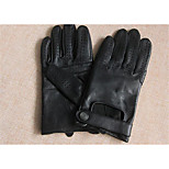 Men'S Spring And Autumn Thin Sheepskin Leather Driving Gloves Slip Summer Half Finger Cycling Motorcycle